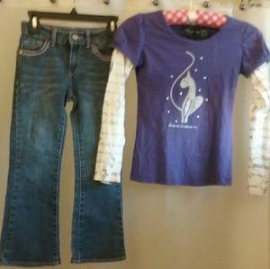 GIRLS Levis Boot Cut&Lovely PurpleBabyPhatTop NICE